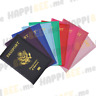 LEATHER PASSPORT HOLDER COVER BIFOLD WALLET ID CARD TRAVEL CASE USA EMBLEM GOLD