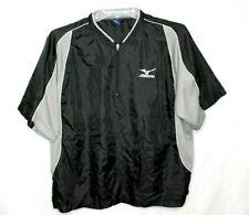 Mizuno 1/4 Zip Black Short Sleeve Baseball Vented Jacket Windbreaker Men Medium