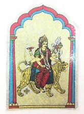 Colourful & Glitter Ambe Maa Religious Sticker -Adhesive Hindu Religious Sticker