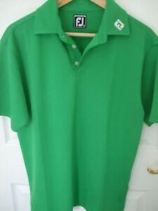 Footjoy Mens Golf Polo Shirt Medium Athletic Fit