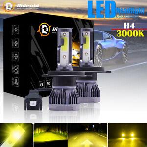 2pcs Mini H4 HB2 9003 20000LM 100W LED Headlight Kit Hi/Lo Beam Bulb 3000K Light