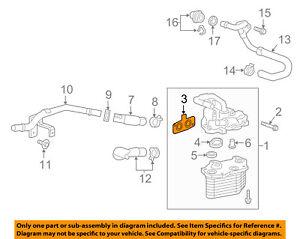 Cadillac GM OEM 16-18 CT6 3.6L-V6 Engine Oil Cooler-Assembly Gasket 12652729
