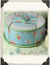 Vintage Floral Print Cake Carrier Nostalgic Tin Caddy Free Ship NIB