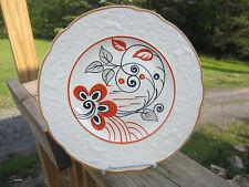 Antique J & G Meakin England Sol Boudoir Porcelain White  Plate Orange  Reindeer