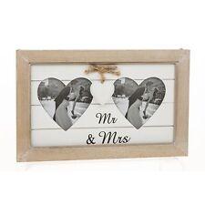 Double Heart Photo Frame Mr & Mrs 26617