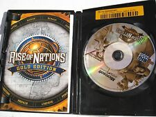 USED RISE OF NATIONS GOLD EDITION CD GAME BOXED WITH MANUAL
