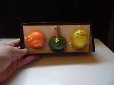 Retro Florida Fruit Lemon Orange Salt Pepper Lime Toothpick Holder Souvenir Set