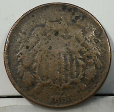 1865 Two Cents grading Very Good Details Environmental Damage
