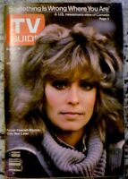 TV Guide 1978 Charlie's Angels Farrah Fawcett Majors International EX COA Rare