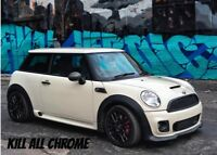 KILL ALL CHROME BLACK OUT BELT LINE KIT ALL MODELS MINI BITZ  - R56 R50 R53 F56
