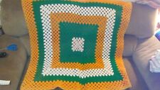"Vintage Square Crocheted Afghan 47"" X 47"""