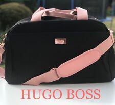 🆕HUGO BOSS BLACK & PINK DESIGNER GYM BAG CASUAL TRAVEL BAG FREE DELIVERY💖💖💖