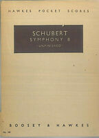 "Taschenpartitur Schubert : SYMPHONY 8 - "" UNFINISHED """