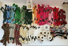 DMC Lot 150+ Embroidery Floss Thread Cotton #5 #3 Many full skeins! Estate Find