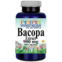 Bacopa Extract 900 mg 180 Capsules Bacopa Monnieria by Vitamins Because