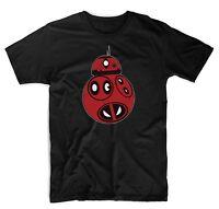 Deadpool BB8 Star Wars Droid Adults Funny T-Shirt Black