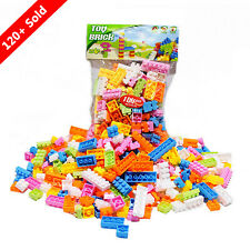 144pcs Plastic Building Blocks Bricks Children Kids  Educational Puzzle Toy Gift