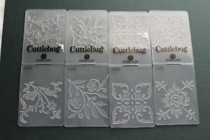 Cuttlebug Provo Craft FLORAL small embossing folders set of 4
