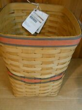 Nwt Longaberger Team Spirit Small Square Waste Basket Cleveland Browns 2009