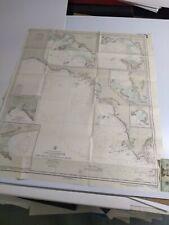 Antique Vintage Navy Nautical Chart Aeronautical Map Cape Catastrophe  Australia