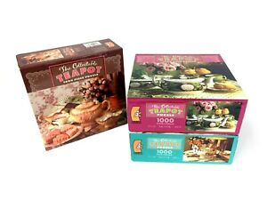 """The Collectible Teapot 1000 Piece Jigsaw Puzzle Lot of 3 New Sealed 27"""" x 20"""""""