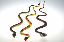 3x Kunststoffschlange 62 cm Plastikschlange Schlange Kunstschlange