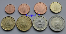 San Marino setje / set / KMS 8 munten UNC mix van jaren / mix of years