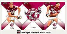 2011 Select NRL Strike Trading Cards Base Team Set Manly (12)