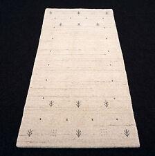 Orient Teppich Indo Gabbeh 140 x 70 cm Handgeknüpft Beige Sand Modern Carpet Rug