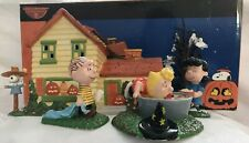 Department 56 Peanuts Halloween Party Set of 5 Lighted House # 59097 2004