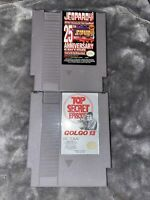 Nintendo NES Game Lot of 2! Jeopardy& Top Secret Golgo13 Tested & Working
