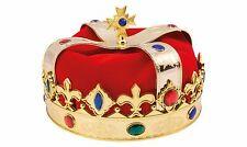 Krone gold rot Kinder Karneval Kostüm Prinz Fastnacht Verkleidung Geburtstag