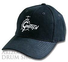 GRETSCH Black Classic Logo Baseball Hat - Genuine Gretsch Apparel!