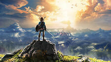 "Hot The Legend of Zelda Breath of the Wild New Link Game Art Silk 25""x14"" Poster"
