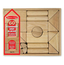 Melissa & Doug Standard Unit Block Set 60pcs - New, Free Shipping