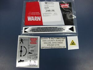 WARN 38305 Winch Replacement Decal Label Kit Set Sticker XD9000i