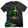 Black Duck T shirt for Jordan 5 Oregon Ducks Apple Green Yellow Unisex T-shirt
