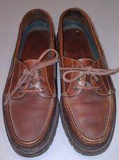 VTG H.S. Trask Leather Lace Up Dress Loafers Shoes Bozeman Montana Mens 8 Brazil