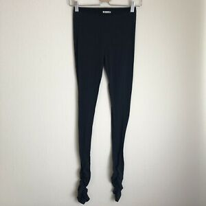 Intimately Free People Ruched Black Elastic Waist Pull On Leggings Size S