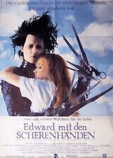 Affiche 84x120cm EDWARD AUX MAINS D'ARGENT /… MIT DEN SCHERENHANDEN Tim Burton