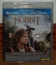 EL HOBBIT UN VIAJE INESPERADO THE HOBBIT COMBO BLU-RAY+DVD PRECINTADO NUEVO R2