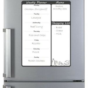 Large Magnetic Fridge Planner Whiteboard Dry Erase Wipe Meal Diet Memo Family