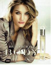 Publicité Advertising 127  2012   parfum Burberry  Body & Rosie Huntington *