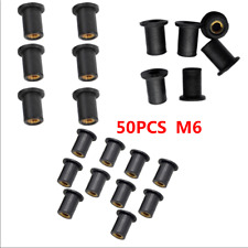 50 PACK Motocycle M6 Metric Rubber Well Nuts 6mm windscreen nut wellnuts