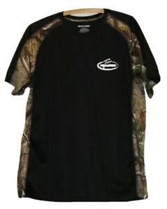 mens Team Realtree Size Large short-sleeved t-shirt black/camoflage hunting