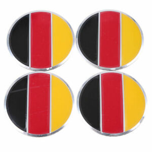 4pcs Germany Flag Auto Car Wheel Center Hub Caps Emblem Badge Sticker Decal 57mm
