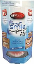 Instant Smile Comfort Fit Flex Cosmetic Teeth, Bright White Upper Veneer