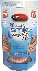 Instant Smile Comfort Fit Flex Cosmetic Teeth, Bright White Upper Veneer