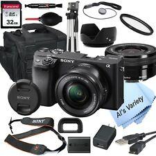 Sony a6400 Mirrorless Camera ILCE-6400L/B 16-50mm Lens Kit + 32GB (18PC Bundle)
