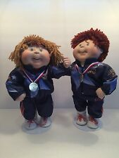 1996 CABBAGE PATCH KIDS OLYMPIC PORCELAIN DOLLS CPK BY DANBURY MINT WITH STAND